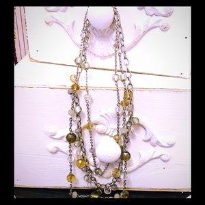 White House/Black Market 3 String Necklace